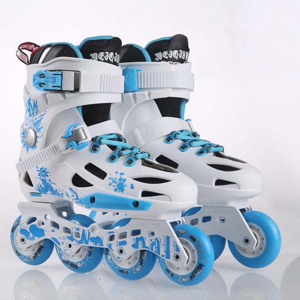 Vampsky キッズクワッドスケート調整可能なインラインローラーブーツシングルスケートレーススケート、大学生アダルトユニセックス子供 B07PNFZ8G3 38