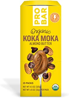 product image for PROBAR - Nut Butters, Koka Moka Almond Butter Plus Caffeine, Non-GMO, Gluten-Free, USDA Certified Organic, Healthy, Plant-Based Whole Food Ingredients, Natural Energy (10 Count)