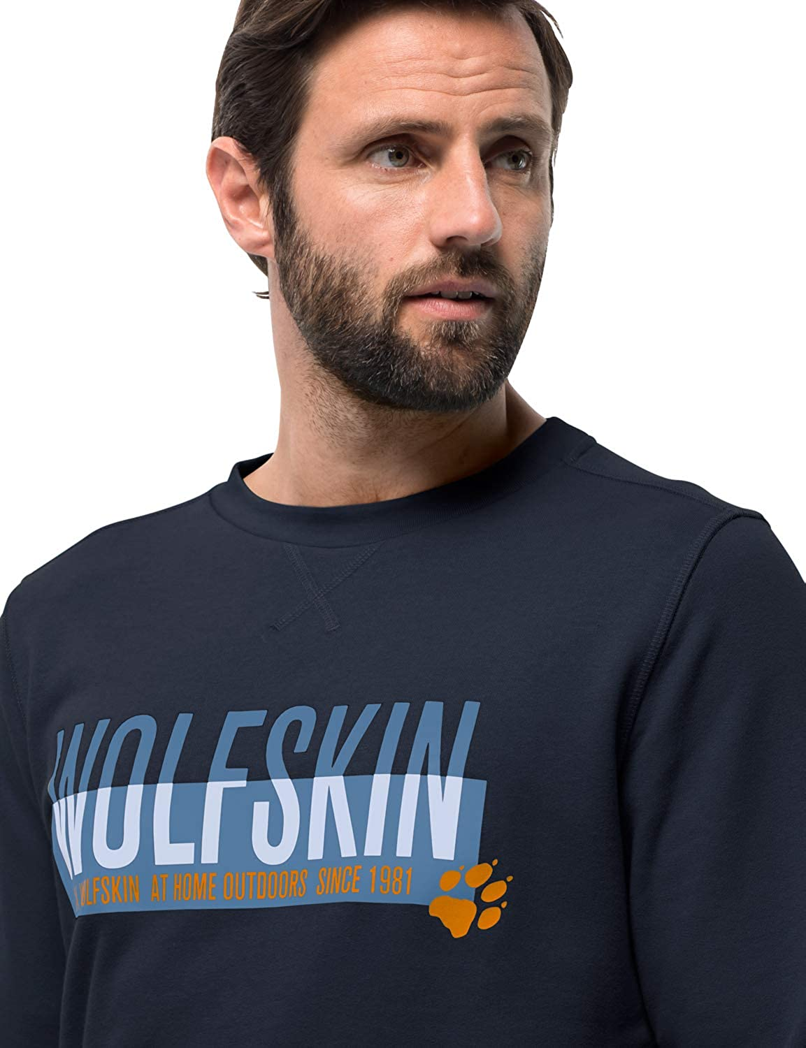 Jack Wolfskin Herren Slogan Sweatshirt Pullover Night Blue