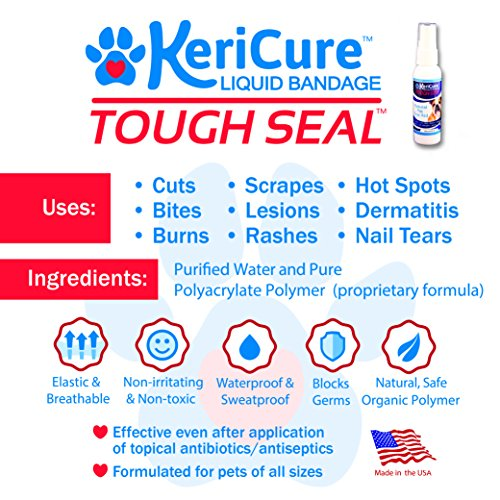 KeriCure 2 oz Tough Seal Pet Liquid Bandage - incensecentral.us