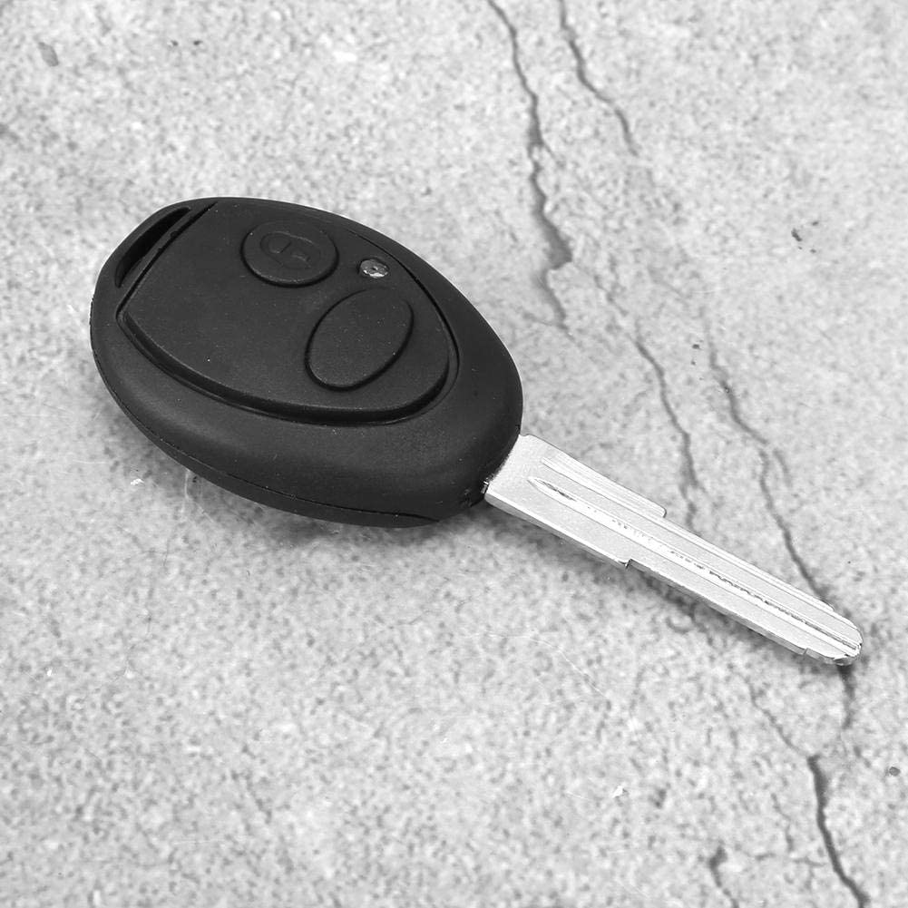 KIMISS Car Remote Key,Black Remote Car Key 2 Buttons Fits for Discovery 2 TD4 TD5