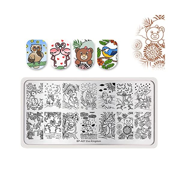 Born Pretty Nail Art Stamping Set 5Pcs Flower Mandala Plates 1Pc Jelly Silicone Stamper for manicuring Print DIY Kit 8