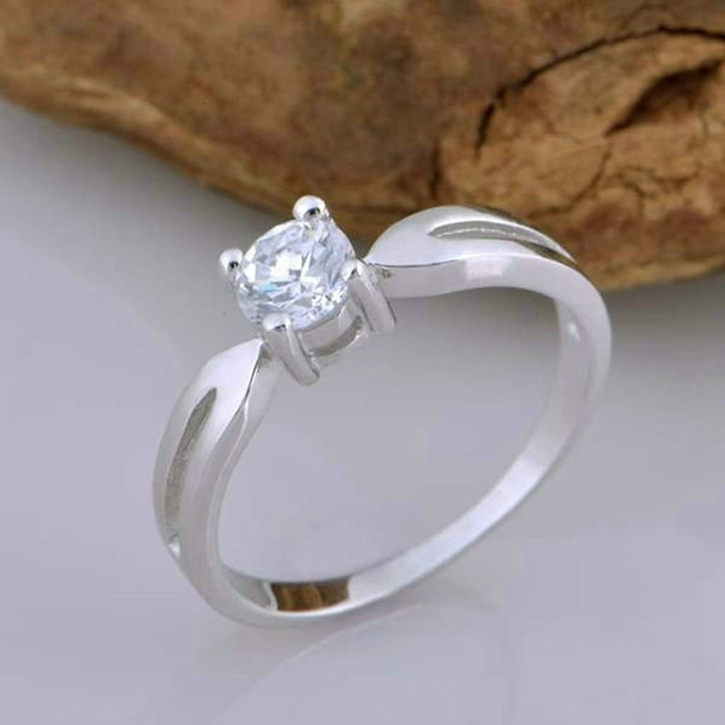 Wedding Rings Mens Cubic Zirconia Rings Princess Cut For His 5mm Size 6.5 Silver Gnzoe Jewelry