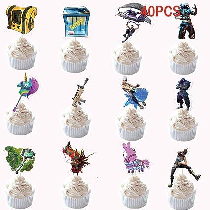 Juego de decoraciones para tartas de cumpleaños, 40 unidades ...