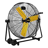 Master PROFESSIONAL MAC-30BCT-EP, Heavy Duty, 30'' Direct Drive Basket Cradle Floor Fan-tiltable, Black