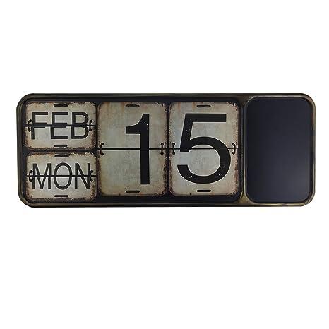 Amazon.com: Calendario de metal con pizarra para el hogar ...
