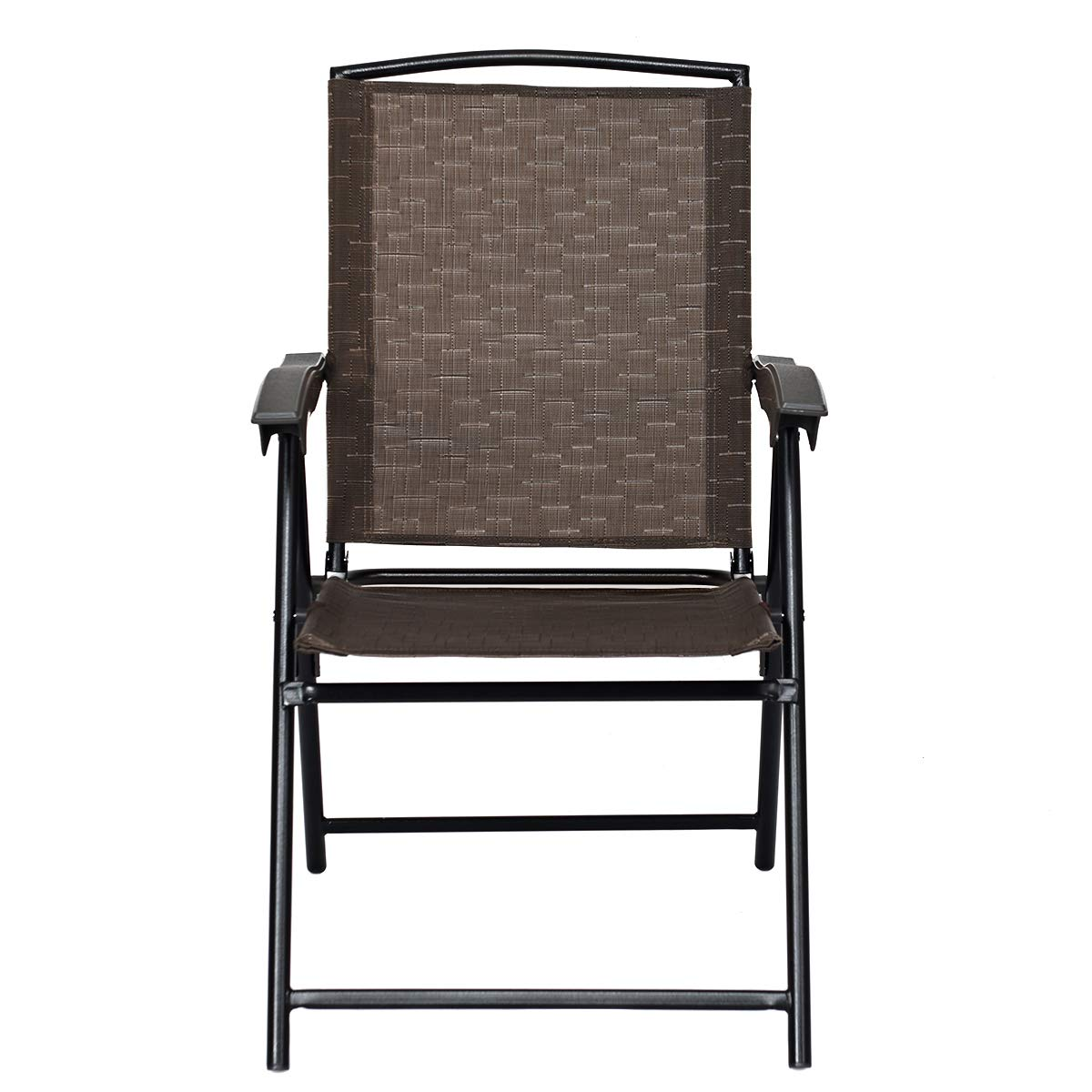 Goplus Sets of 4 Folding Sling Chairs Portable Chairs for Patio Garden Pool Outdoor & Indoor w/Armrests by Goplus (Image #8)