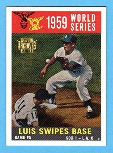 Los Angeles Dodgers 1959 Topps World Series Reprint (Game 5) *w/ Original Back* (From 2001 Topps Archives)