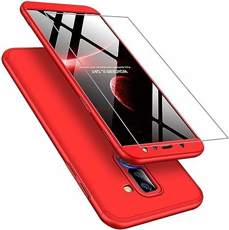 Funda Samsung A6 Plus 2018 Cubierta de 360°Caja AILZH Protección ...