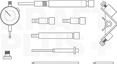 KRAFTPLUS® K.286-0357 Einstell Werkzeug Satz für Diesel Einspritz Pumpen 10-tlg.