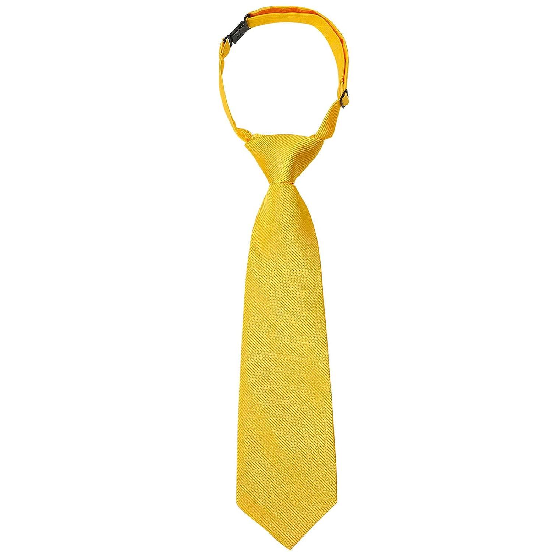 Ties for Kids Boys Necktie Adjustable Woven Little Boys Pre-tied for Kids Formal Wedding Graduation School Uniforms