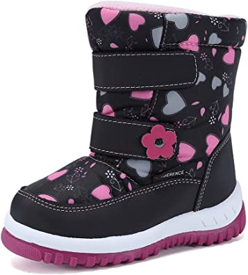Toddler//Little Kids CIOR Kids Snow Boots Girls Boys Outdoor Boots Waterproof for Toddler Warm Boots with Fur Lined