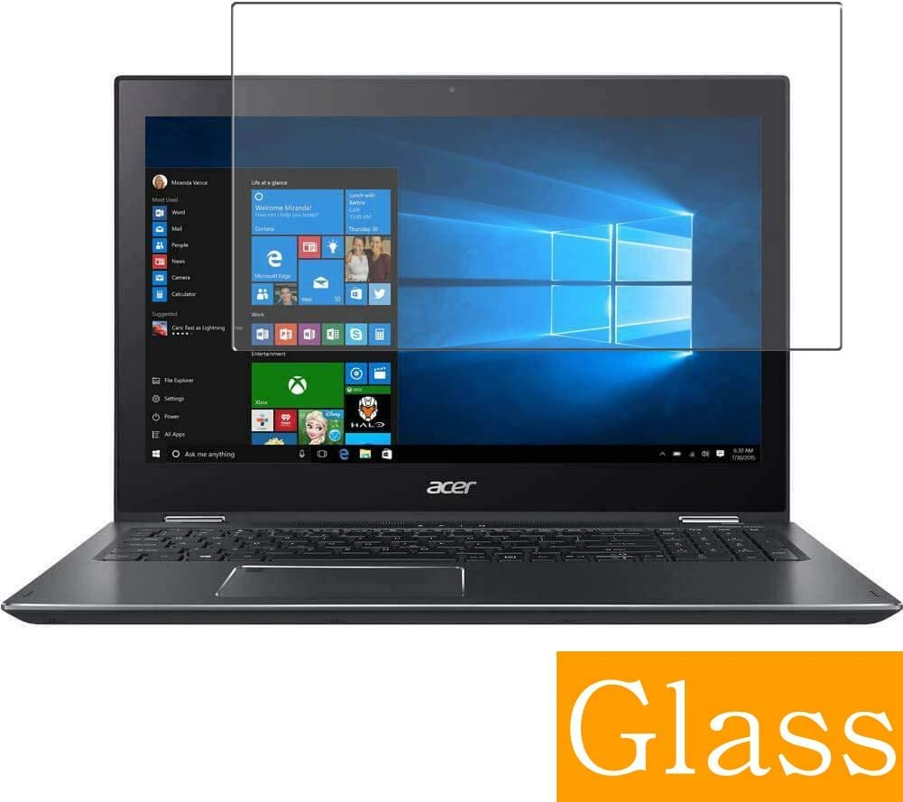 """Synvy Tempered Glass Screen Protector for Acer Spin 5 SP515-51N / SP515-51GN 15.6"""" Visible Area 9H Protective Screen Film Protectors (Not Full Coverage)"""