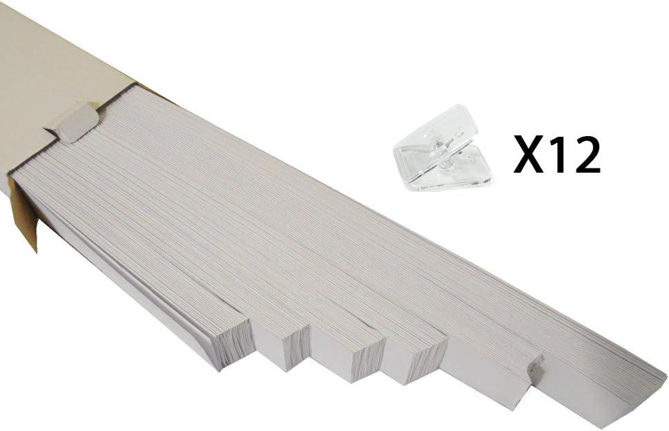 Fixation Rapide etFacile /à Installer Versailtex Blanc Temporaire Un Papier Stores Pliss/é 48 Pouces x 72 Pouces H Filtres Doux de la lumi/ère pour la Vie priv/ée 2 -Paquet