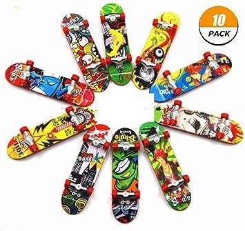 10Pcs Mini Kids Skateboard Toy Deck Truck Finger Board Skate Park Children Gift
