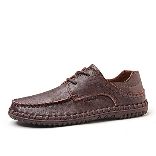 Qiming-MS Zapatos Oxford con Corbata para Hombre Penny Loafers ...