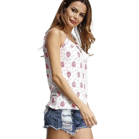 Camisa de Playa Mujer Sexy, Covermason Camisa Estampada de Verano para Mujer: Amazon.es: Ropa y accesorios