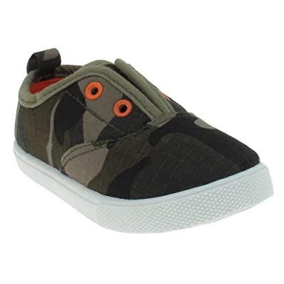 Capelli New York Toddler Boy's Camo Printed Ripstop Fabric Slip-On Shoe