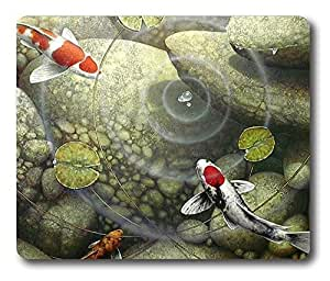 Online Designs Bubbling koi Square mouse pad Printing pads gel 9 * 7.5inch