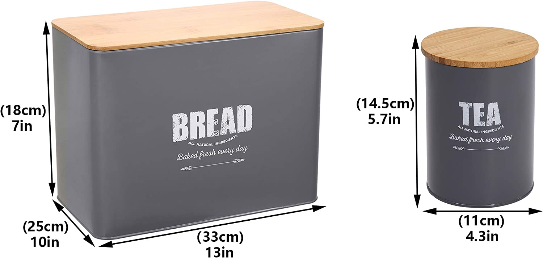 3 Piece Bakery Box brötchenbox Bread Container konditorenbox Euro-Standard 32cm Grey