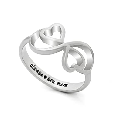 infinity ring multiple birthstone jewelry rings family mothers