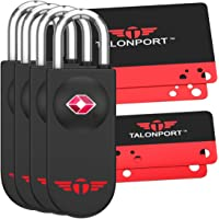 Keyless TSA Approved Luggage Lock with Lifetime Card Keys & No Combo to Forget (4 Pack)