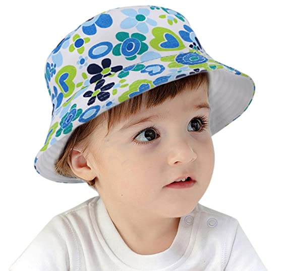 1061808fb54 Hemantal Toddlers Little Kids Breathable Summer Hat w UPF 50 Protection Blue