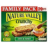 Nature Valley Crunchy Granola Bars - Oats & Honey (10x42g) - Pack of 6