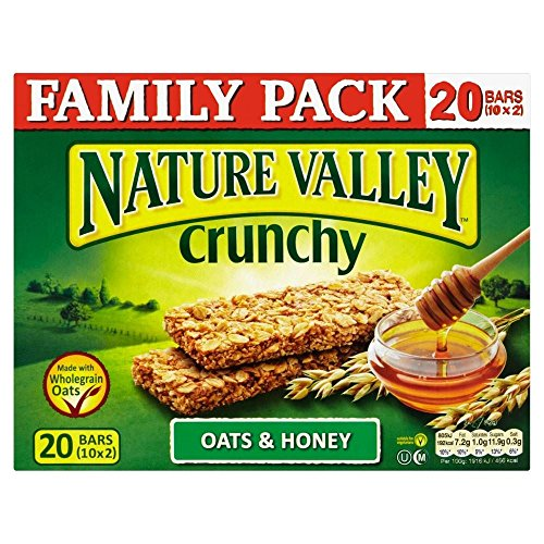 Nature Valley Crunchy Granola Bars - Oats & Honey (10x42g) - Pack of 6 by Nature Valley