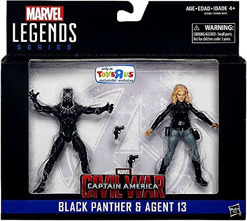 Marvel Legends, Captain America: Civil War, Black Panther and Agent 13 Action Figures, 3.75 Inches