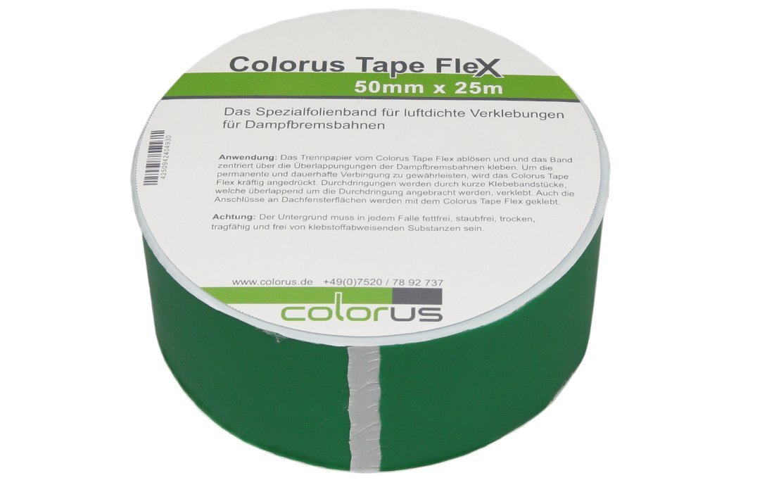Colorus Tape Flex Plus 50mm x 25m de extra fuerte pegamento 210g/m² para vapor de freno, bajo ajustable de, bajo Deck las Carreteras etc. 1A Malerwerkzeuge