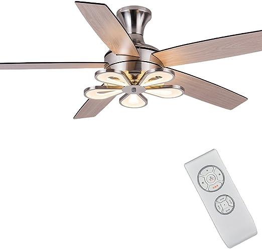 Ventilador de techo de moda Lámpara de ventilador eléctrico Restaurante Salón Dormitorio Hogar Ventilador Moderno ...