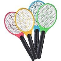 Lanspo antimosquitos de suicidas eléctrica de mano–Raqueta de tenis raqueta de insectos de moscas de antiácaros de matamoscas, seguro y cómodo