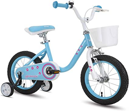 "CYCMOTO Girls Bike For 3-6 Years Child 14/"" Kids Bicyle With Basket Hand Brake"