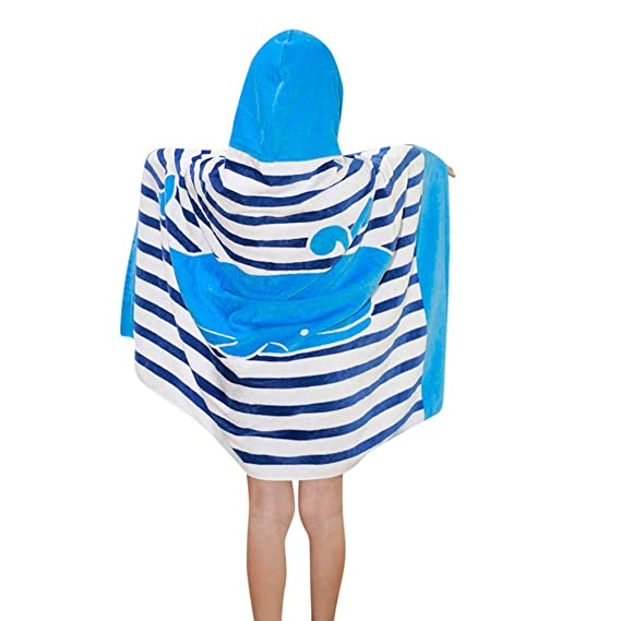 Buy Lavany Kids Beach Bath Towel Cover-Ups For Boys Girls, Childrens Cute  Cartoon Printed Hooded Swimsuit Wraps Beach Cloak at Amazon.in