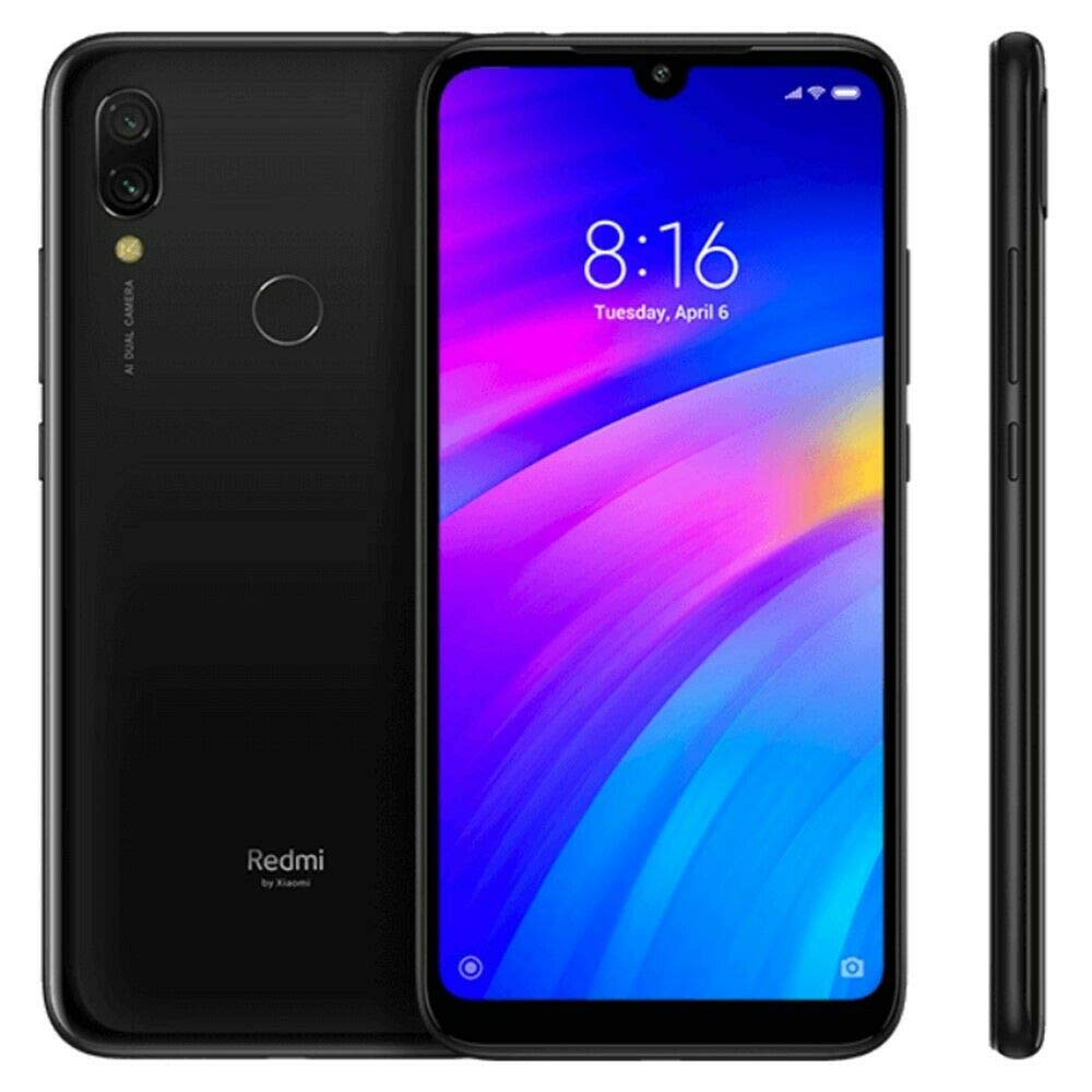 Xiaomi Redmi 7 32Gb+3GB RAM 6.26'' HD+ LTE Factory Unlocked GMS Smartphone (Global Version, No Warranty) (Eclipse Black) by Xiaomi