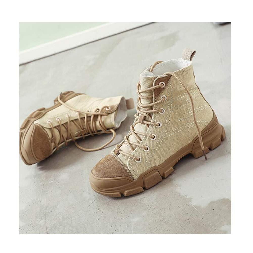 LF Herbst Stiefelies Stiefelies Stiefelies Dick besohlten Martin Stiefel Vintage Stiefel (Farbe   Khaki Größe   EU37 UK4.5-5 CN37) c758b7