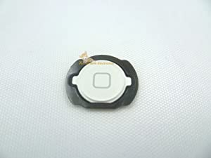 White Color Home Button Key with Rubber Gasket Repair Replacement for iPod Touch 4th Gen 8gb 32gb 64gb