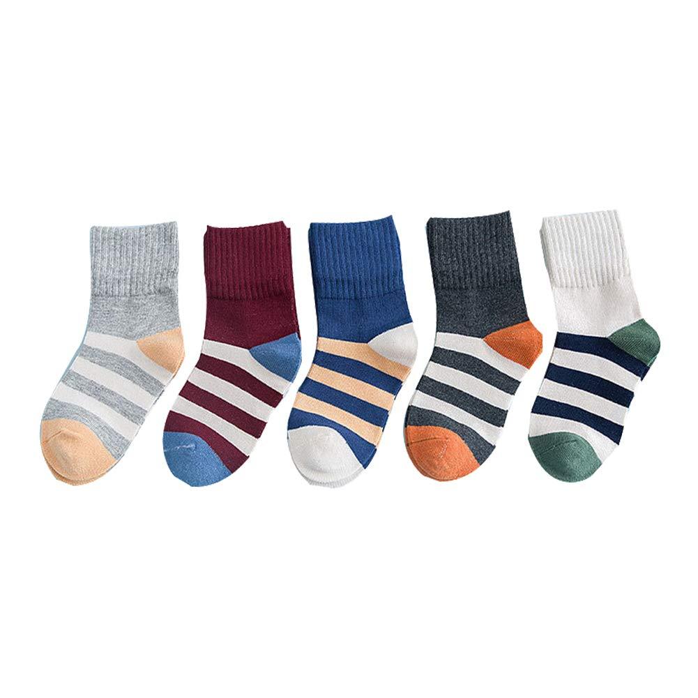 Xuxuou 5 Par Calcetines para Niños de Invierno Algodón Medias de Algodón Cómodo para Niño de 3-12 años Size M (3-5 Year)