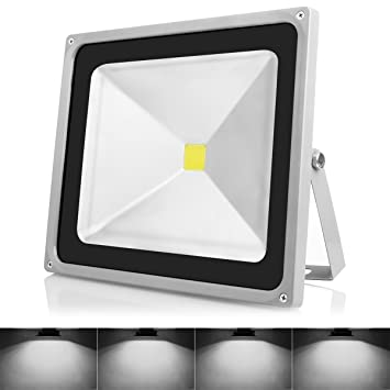 Amazon warmoon outdoor led flood light 50w daylight white 6500k warmoon outdoor led flood light 50w daylight white 6500k waterproof security lights with 3 mozeypictures Gallery