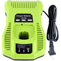 Battery Charger Replacement for Ryobi P117 One+ 18 Volt Dual Chemistry IntelliPort Lithium Ion and NiCad Battery Charger…