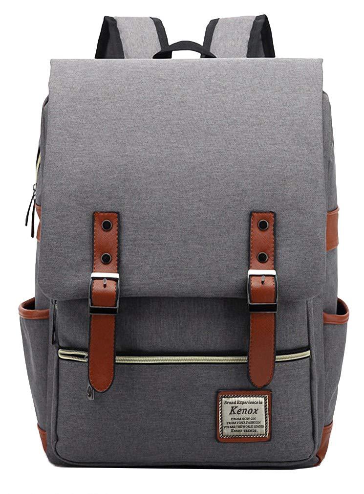 b2daef43fc18 Kenox Vintage Laptop Backpack College Backpack School Bag Fits 15-inch  Laptop