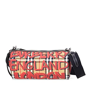 aa142fb8756 Image Unavailable. Image not available for. Color  Burberry Small Graffiti  Print Vintage Check ...