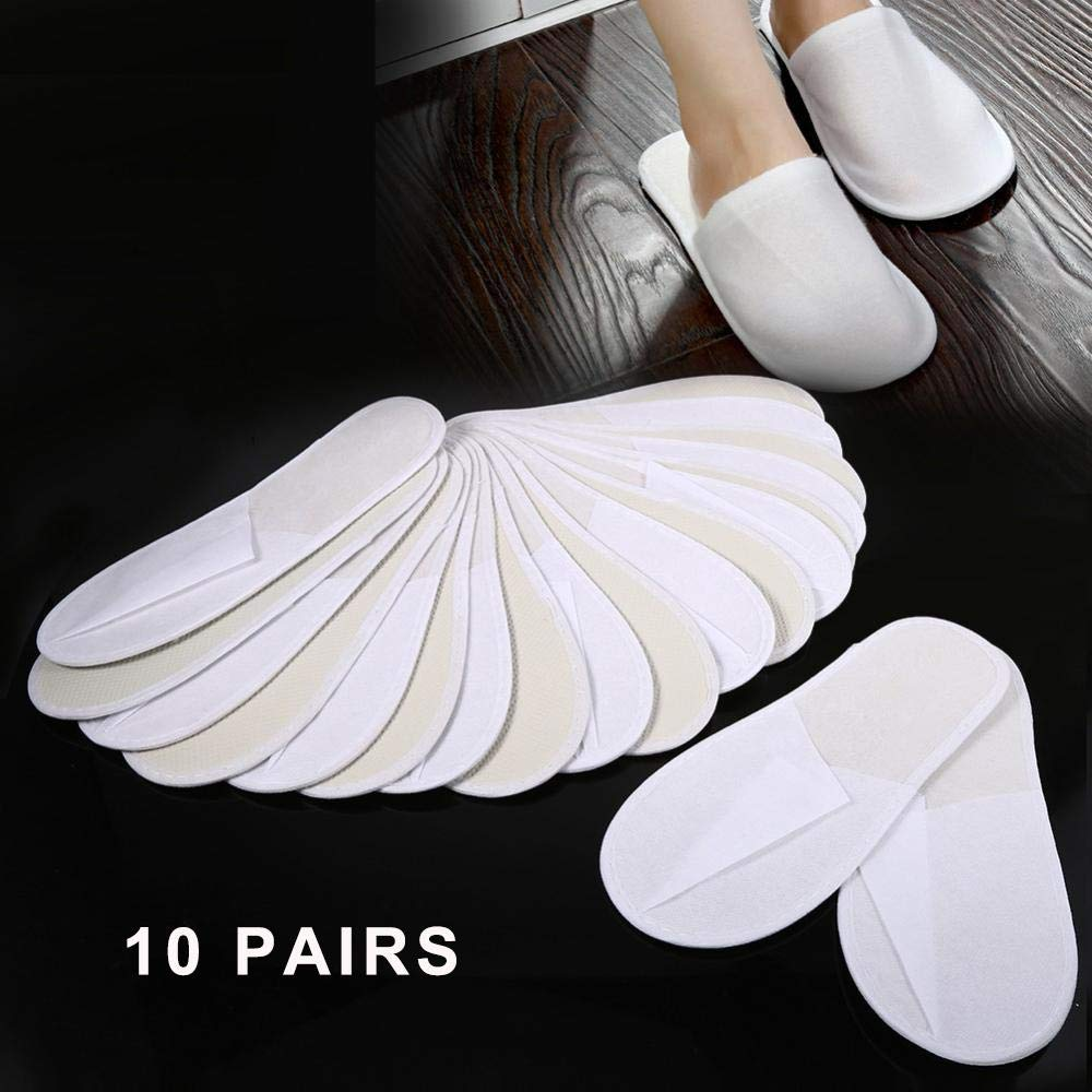 AYNEFY 10 Pairs New Disposable Slippers Comfortable Travel Hotel Guest Shoes SPA Slipper for Man and Women by AYNEFY