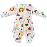 Saco de dormir para bebé con piernas forradas para invierno, de manga larga, con pies, 3,5 tog. rojo rojo Talla:XL/Körpergröße 92cm-102cm