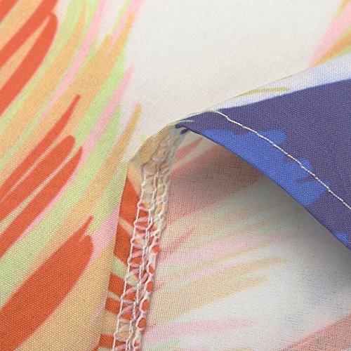 Vestido con EUZeo Floral Playa Verano Falda Elegante Vestidos redond Cuello Fiesta 2018 Vestido Mujer de Sexy Vestidos Blanco de Largos Corto Fiesta Casual Estampado Traje Bohemian zCpxF