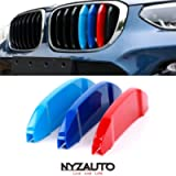NYZAUTO M-Colored Stripe Grille Insert Trims Compatible with BMW G01 X3 & G02 x4 Standard Kidney Grille