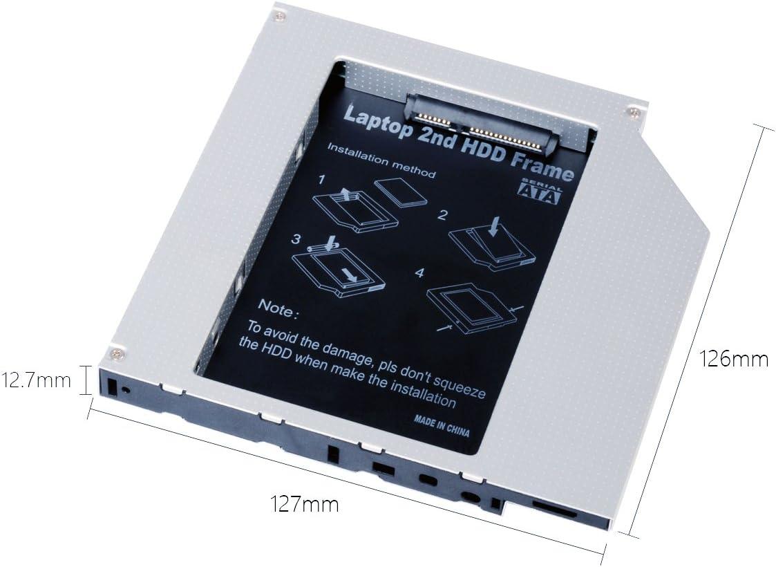 QUMOX Adaptador de 2do HDD SSD SATA para Disco Duro de Laptops ...