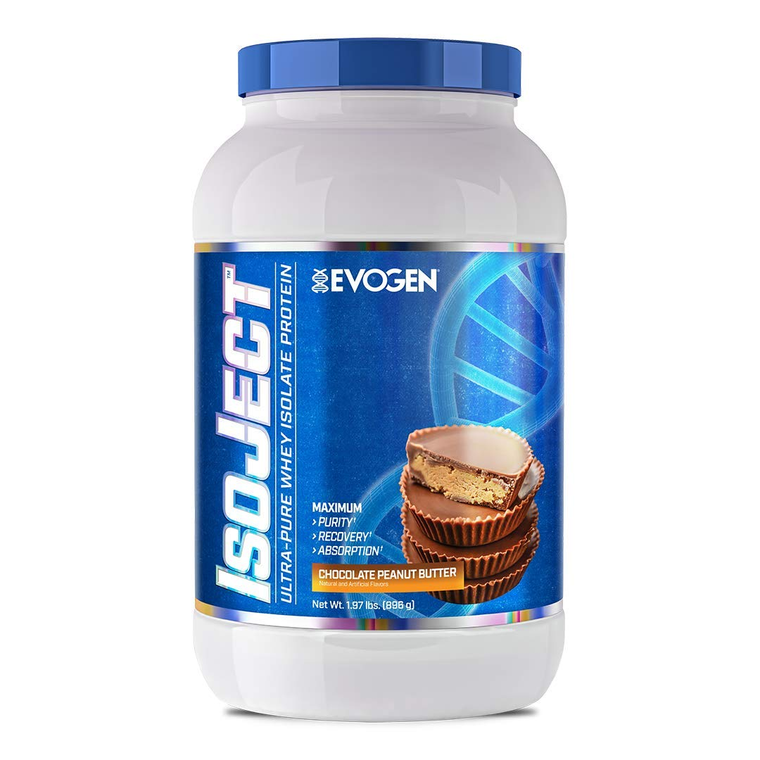 Evogen Isoject | Premium Whey Isolate w/ Ignitor Enzymes | Chocolate Peanut Butter | 28 Servings