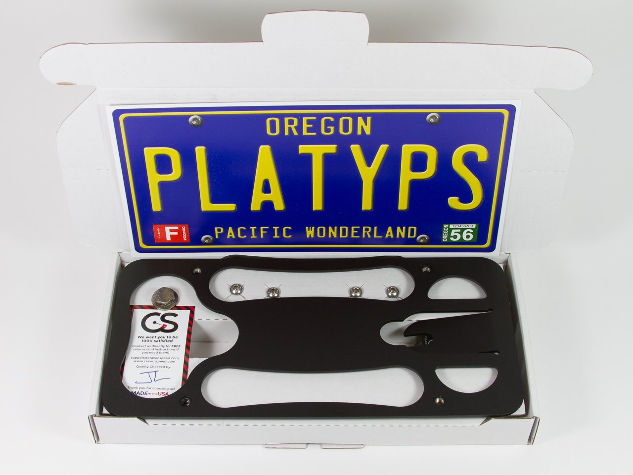 CravenSpeed The Platypus License Plate Mount for Mini Cooper (F56) 2014-2019 | No Drilling | Installs in Seconds | Made of Stainless Steel & Aluminum | Made in USA by CravenSpeed (Image #3)